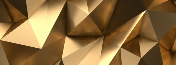 Gold Geo - Bowling Alley Design