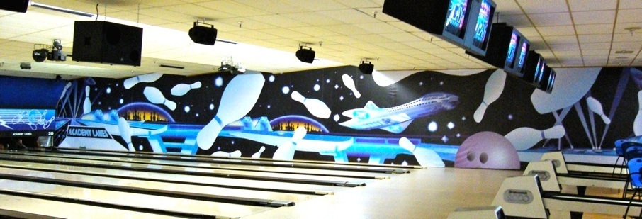 Bowling Side Wall Graphics