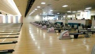 bowling ball hood and racks