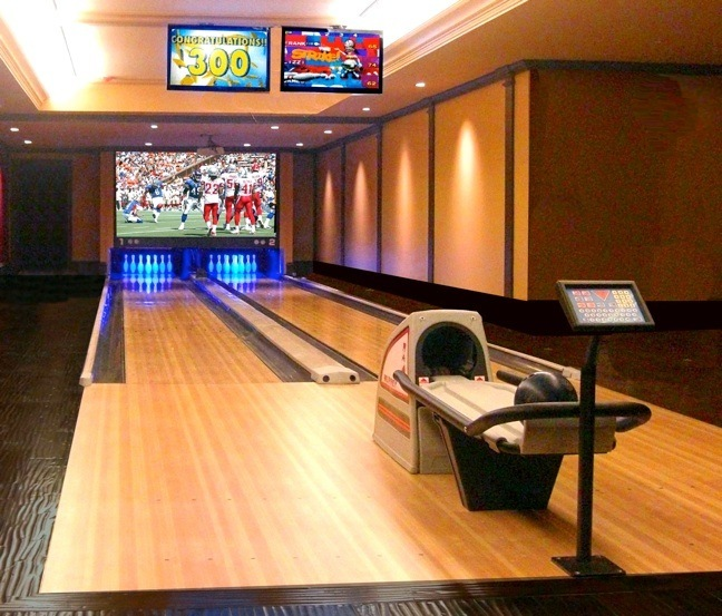 Home bowling alley installations