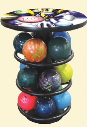 Bowling Ball Rack Combo Tables