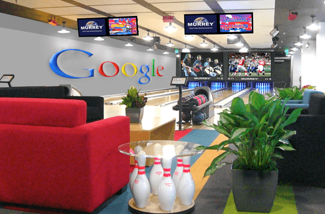 Bowling alley built for Google